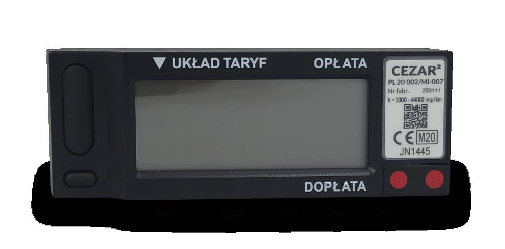 Taksometr elektroniczny CEZAR Fiskalny